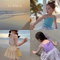 Vest sling Sleeveless 80, 90, 100, model, 110, 120, 130, 140, 150 summer Maimaiqiu female There are models in the real shooting Simplicity Solid color Crew neck nothing Pure cotton (95% and above) Cotton 95% other 5% Class B 2, 3, 4, 5, 6, 7, 8, 9, 10 years old Chinese Mainland Guangdong Province