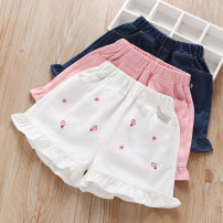trousers middle-waisted Rubber belt Class B female Grandma tree Three, four, five, six, seven, eight, nine, ten, eleven, twelve, thirteen, fourteen shorts summer Casual pants There are models in the real shot Don't open the crotch cotton leisure time Cotton 100% WPSNCAQ3002 Chinese Mainland