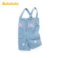 trousers Bala female 66cm,130cm,110cm,120cm,140cm Cream, denim medium blue 0820 summer trousers Casual pants Bala 3 months