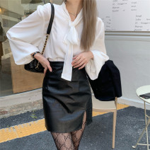 Fashion suit Spring 2021 S. M, average size White shirt, black skirt 18-25 years old Other / other 96% and above polyester fiber