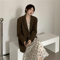 Dress Spring 2021 Suit coat, floral dress S. M, average size Mid length dress Two piece set Long sleeves commute routine 18-24 years old Type X Other / other