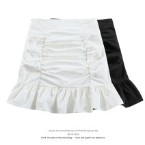 skirt Summer 2021 S,M,L Black, white Short skirt commute High waist A-line skirt Solid color Type A 18-24 years old 51% (inclusive) - 70% (inclusive) other Korean version