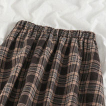 skirt Spring 2021 Average size Picture color longuette commute High waist A-line skirt lattice Type A 18-24 years old 51% (inclusive) - 70% (inclusive) Wool polyester fiber Pleating Korean version