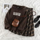 Fashion suit Winter 2020 S. M, l, XL, one size fits all Coffee velvet sweater, plaid skirt 18-25 years old 71% (inclusive) - 80% (inclusive)