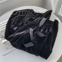 skirt Spring 2021 M, L black Mid length dress Versatile High waist A-line skirt Solid color Type A 18-24 years old 2021.01.22 Other / other