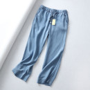 Jeans Spring 2021 Light blue, dark blue trousers High waist Wide legged trousers Thin money 96% and above