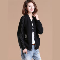 Women's large Autumn 2020 Big XL, big XXL, big XXXXL, big XXXXL, big L, big M Jacket / jacket singleton  commute easy moderate Cardigan Long sleeves Solid color Korean version stand collar routine cotton Three dimensional cutting 71% (inclusive) - 80% (inclusive)