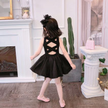 Dress Self made small black dress, second batch of Pre-sale / self-made small black dress female Minnie honey bud 80cm,90cm,100cm,110cm,120cm,130cm,140cm Other 100% summer Simplicity Skirt / vest Solid color other A-line skirt CL6068 Chinese Mainland Guangdong Province Shenzhen City