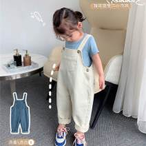 trousers Other / other female 5 ᦇ recommended height 80cm, 7 ᦇ recommended height 90cm, 9 ᦇ recommended height 100cm, 11 ᦇ recommended height 110cm, 13 ᦇ recommended height 120cm, 15 ᦇ recommended height 130cm Blue, beige spring and autumn trousers leisure time There are models in the real shooting
