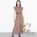 Dress Winter 2020 Picture color 36/S,38/M,40/L,42/XL longuette singleton  Short sleeve commute Polo collar High waist lattice zipper A-line skirt routine Others Type X Ol style More than 95% other wool