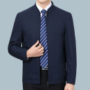 Jacket Other / other Business gentleman Khaki, black, camel, Navy, black, cotton, navy L,XL,2XL,3XL,4XL/190,195 thin easy Other leisure spring Long sleeves Wear out Baseball collar Business Casual middle age short Zipper placket 2021 Rib hem No iron treatment Closing sleeve other Woollen cloth