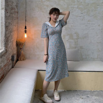 Women's large Summer 2020 Large L, large XL, s, m, 2XL, 3XL Dress singleton  commute easy moderate Socket Short sleeve Broken flowers Korean version V-neck routine other Three dimensional cutting routine 18-24 years old 31% (inclusive) - 50% (inclusive) Medium length other