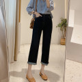 Jeans Spring 2021 Deep denim ( Spring (regular) , Light denim ( Spring (regular) , Denim blue (summer thin) S/26,M/27,L/28,XL/29 trousers High waist Straight pants routine 25-29 years old Dark color DYK007 IMFLY