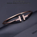 Bracelet  Other / other Inlay with stone 18 karat gold female Self use price NGTC certificate