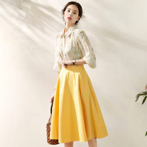 Fashion suit Spring 2021 S,M,L,XL yellow 25-35 years old 91% (inclusive) - 95% (inclusive) polyester fiber