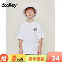 T-shirt Dooley / Duoli 120cm 130cm 140cm 150cm 160cm 170cm male summer Short sleeve Crew neck leisure time There are models in the real shooting nothing cotton other Cotton 100% D923153 Class B Sweat absorption Summer of 2019