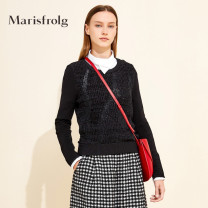 Wool knitwear Spring of 2019 1/S/36 2/M/38 3/L/40 4/XL/42 black Long sleeves singleton  Socket Viscose 51% (inclusive) - 70% (inclusive) Regular routine commute Straight cylinder other routine Solid color Socket Simplicity A1HF1284M 35-39 years old Marisfrog / masfield