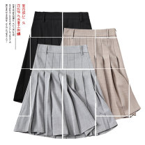 skirt Summer of 2019 S,XL,2XL,XS,L,M Short skirt Versatile High waist High waist skirt Solid color Type A 25-29 years old QA19061 91% (inclusive) - 95% (inclusive) other Other / other polyester fiber Pleated, zipper