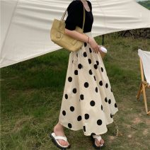 skirt Autumn 2020 S,M,L Apricot, white Mid length dress commute Natural waist other other Type A 25-29 years old 30% and below other polyester fiber 401g / m ^ 2 (inclusive) - 500g / m ^ 2 (inclusive)