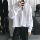 shirt Youth fashion Others M,L,XL,2XL 8532 shirt black, 8532 shirt white, C88 Shirt White Thin money Pointed collar (regular) Long sleeves easy Other leisure Four seasons youth tide 2020 Solid color No iron treatment Easy to wear