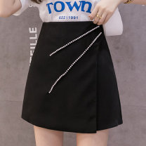 skirt Summer 2021 S M L XL XXL White, black, pink Short skirt commute High waist A-line skirt Solid color 25-29 years old 81% (inclusive) - 90% (inclusive) other Nonsar / ningsa polyester fiber Nail bead Korean version Polyester 90% other 10% Pure e-commerce (online only)