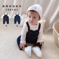 Jumpsuit / climbing suit / Khaki Other / other Class A neutral Black, blue 66cm,73cm,80cm,90cm,100cm polyester spring and autumn Long sleeves Long climb Versatile There are models in the real shooting Detachable cap Socket Freshmen, 3 months, 6 months, 12 months, 18 months, 2 years old, 9 months old