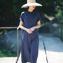 Dress Summer of 2018 Tibetan blue S (new stock) m (new stock) l (new stock)