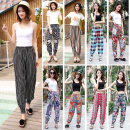 Casual pants S,M,L,XL,2XL Spring of 2019 trousers Knickerbockers High waist Sweet Thin money 30-34 years old 96% and above Other / other cotton printing and dyeing cotton Asymmetry Bohemia