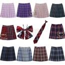 skirt Summer of 2018 XS,S,M,L,XL,2XL,3XL,4XL Short skirt Versatile High waist Pleated skirt lattice Type H 18-24 years old polyester fiber