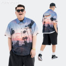 shirt Youth fashion Others M. L, XL, 2XL, 3XL, 4XL (262-290 kg) Picture color routine other Short sleeve easy Other leisure summer teenagers Youthful vigor 2021 The starry sky other polyester fiber other More than 95%