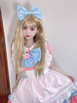 Cosplay women's wear skirt goods in stock Over 14 years old Dress + apron + headdress + cat's paw + bow, suit + bell, ordinary skirt, socks, the same kind of skirt in video Animation, games Cute, maid, campus, Lolita M