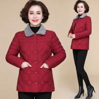 Middle aged and old women's wear Winter 2020 Black, red, purple, 9801 khaki, 9801 red, 9801 purple, 9801 black fashion Cotton easy singleton  Cardigan