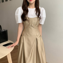 Fashion suit Summer 2021 Average size White shirt, suspender skirt 18-25 years old 31% (inclusive) - 50% (inclusive)