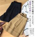 Casual pants Black Khaki S M L Autumn 2020 shorts Wide leg pants High waist 25-29 years old H'shimei / huashimei Pure e-commerce (online only)