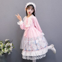 Dress female Other / other 110cm,120cm,130cm,140cm,150cm,160cm,170cm Polyester 100% spring and autumn solar system Long sleeves Broken flowers other A-line skirt Class B 2, 3, 4, 5, 6, 7, 8, 9, 10, 11, 12, 13, 14 years old Chinese Mainland Guangdong Province Shantou City
