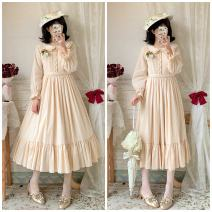 Dress Autumn 2020 Cream apricot long style, cream apricot short style, forest green long style, forest green short style, mist blue long style, mist blue short style, with production period, about 15 days!! S,M,L,XL