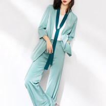 Fashion suit Summer 2020 S M L XL XXL Light green (pink) Xinyuquan 91% (inclusive) - 95% (inclusive) polyester fiber Polyethylene terephthalate (PET) 94% polyurethane elastic fiber (spandex) 6% Pure e-commerce (online only)