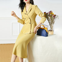 Fashion suit Autumn 2020 S M L XL XXL Yellow (in stock) Xinyuquan 91% (inclusive) - 95% (inclusive) polyester fiber Polyester 95% polyurethane elastic fiber (spandex) 5% Pure e-commerce (online only)