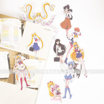 Stickers Baima liangpin Sailor Moon Single package (beautiful girl) decorate Steamed bread family