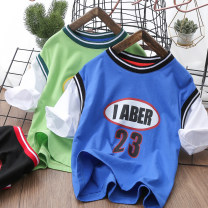 T-shirt Y23 fake two vests black, Y23 fake two vests green, Y23 fake two vests blue Other / other male summer Short sleeve Crew neck No model nothing cotton printing Y21SM08 Chinese Mainland