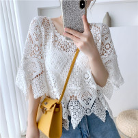 Lace / Chiffon Summer 2020 Apricot, white, black, apricot + sling, white + sling, black + sling One size fits all (quality Edition) Short sleeve Versatile Socket singleton  easy have cash less than that is registered in the accounts Crew neck Solid color routine 18-24 years old