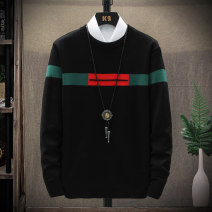 T-shirt / sweater Others Youth fashion Black, Khaki S. M, l, XL, 2XL, 3XL, XS plus small routine Socket Half high collar Long sleeves winter Slim fit 2016 leisure time tide youth routine stripe No iron treatment Regular wool (10 stitches, 12 stitches) other jacquard weave