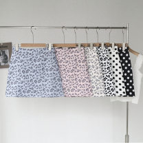 skirt Spring 2021 S,XL,L,M Polka white, leopard pink, Polka black, leopard white, leopard apricot, leopard blue longuette fresh A-line skirt Leopard Print 25-29 years old 51% (inclusive) - 70% (inclusive) other Splicing
