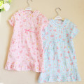Home skirt / Nightgown Other / other Cotton 100% Pink short sleeve nightdress and blue short sleeve nightdress summer female 3 years old, 11-13 years old, 4 years old, 5 years old, 6 years old, 7 years old, 8 years old, 9 years old, 10 years old, 11 years old, 12 years old cotton