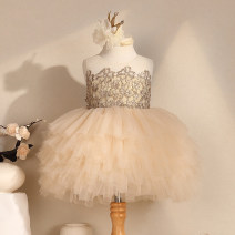 Dress female Kafelan 80cm,90cm,100cm,110cm,120cm,130cm,140cm Other 100% summer princess Skirt / vest Solid color other Cake skirt Class B