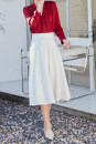 skirt Summer 2021 XS,S,M,L,XL White, gray Mid length dress commute High waist A-line skirt Solid color Type A 30-34 years old 71% (inclusive) - 80% (inclusive) other Simplicity 201g / m ^ 2 (including) - 250G / m ^ 2 (including)
