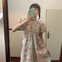Dress Summer 2021 Decor S,M,L singleton  Short sleeve commute High waist Broken flowers Socket other Others 18-24 years old Type A Korean version 4#5 71% (inclusive) - 80% (inclusive) other other