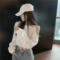 T-shirt White, gray S,M,L Spring 2021 Long sleeves Crew neck easy have cash less than that is registered in the accounts routine commute other 51% (inclusive) - 70% (inclusive) 18-24 years old Korean version Other / other 8W29