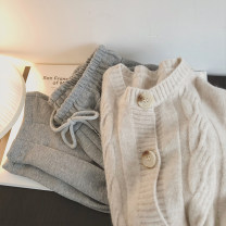sweater Autumn 2020 Average size Apricot, coffee Long sleeves Cardigan singleton  Regular other 31% (inclusive) - 50% (inclusive) Crew neck Regular commute Bat sleeve Bat type Regular wool 18-24 years old Other / other Button Single breasted