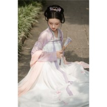 National costume / stage costume Autumn of 2019 Upper garment + full bodied skirt (in stock) S,M,L QX0001 18-25 years old polyester fiber 81% (inclusive) - 90% (inclusive)